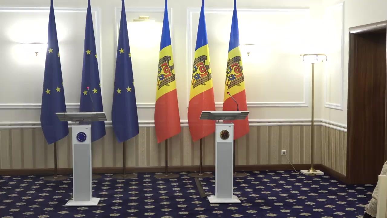 Conferință de presă susținută de Președintele Republicii Moldova, Maia Sandu, și Președintele Consiliului European, Charles Michel