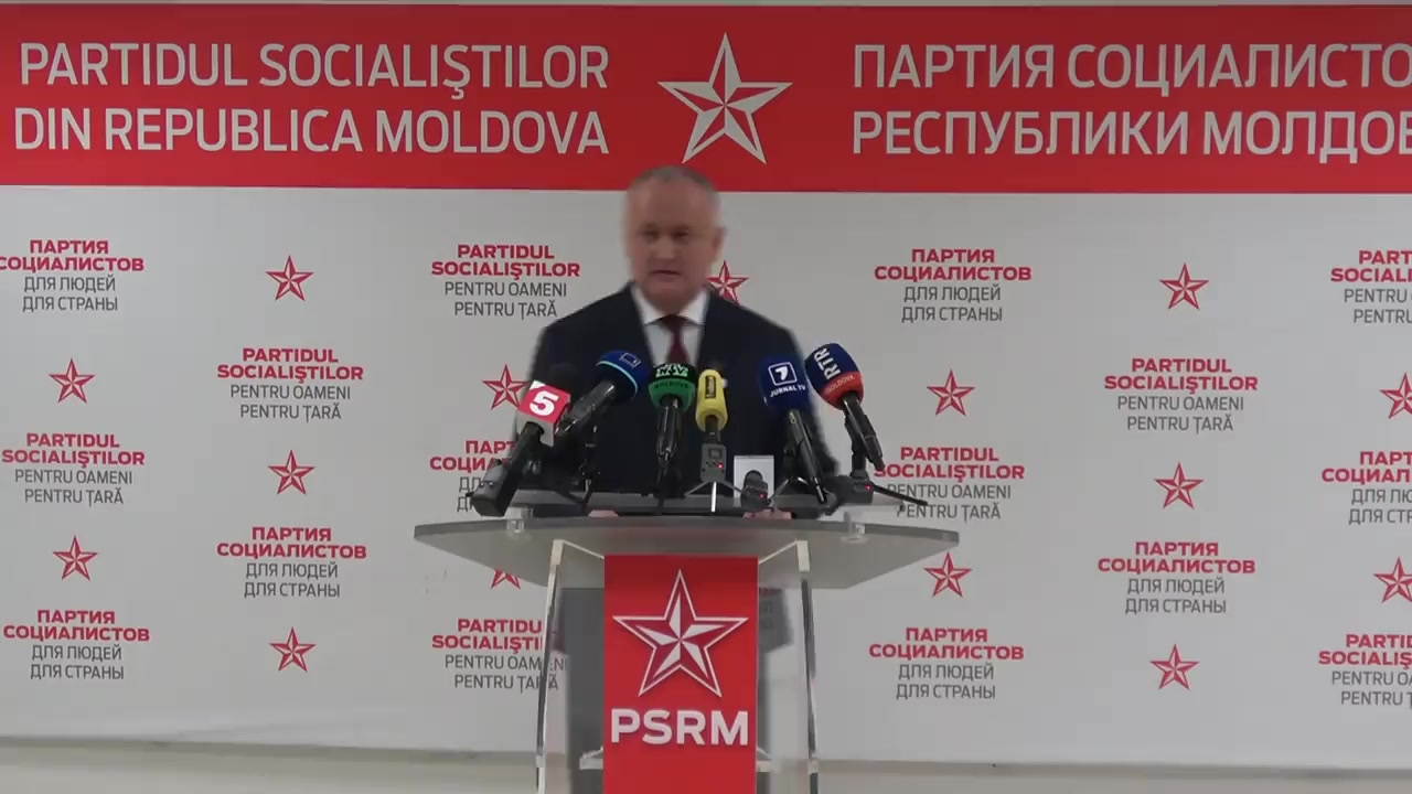 Conferință de presă susținută de Președintele PSRM, Igor Dodon, privind deciziile Consiliului Republican PSRM, care a avut loc pe data de 27 februarie curent