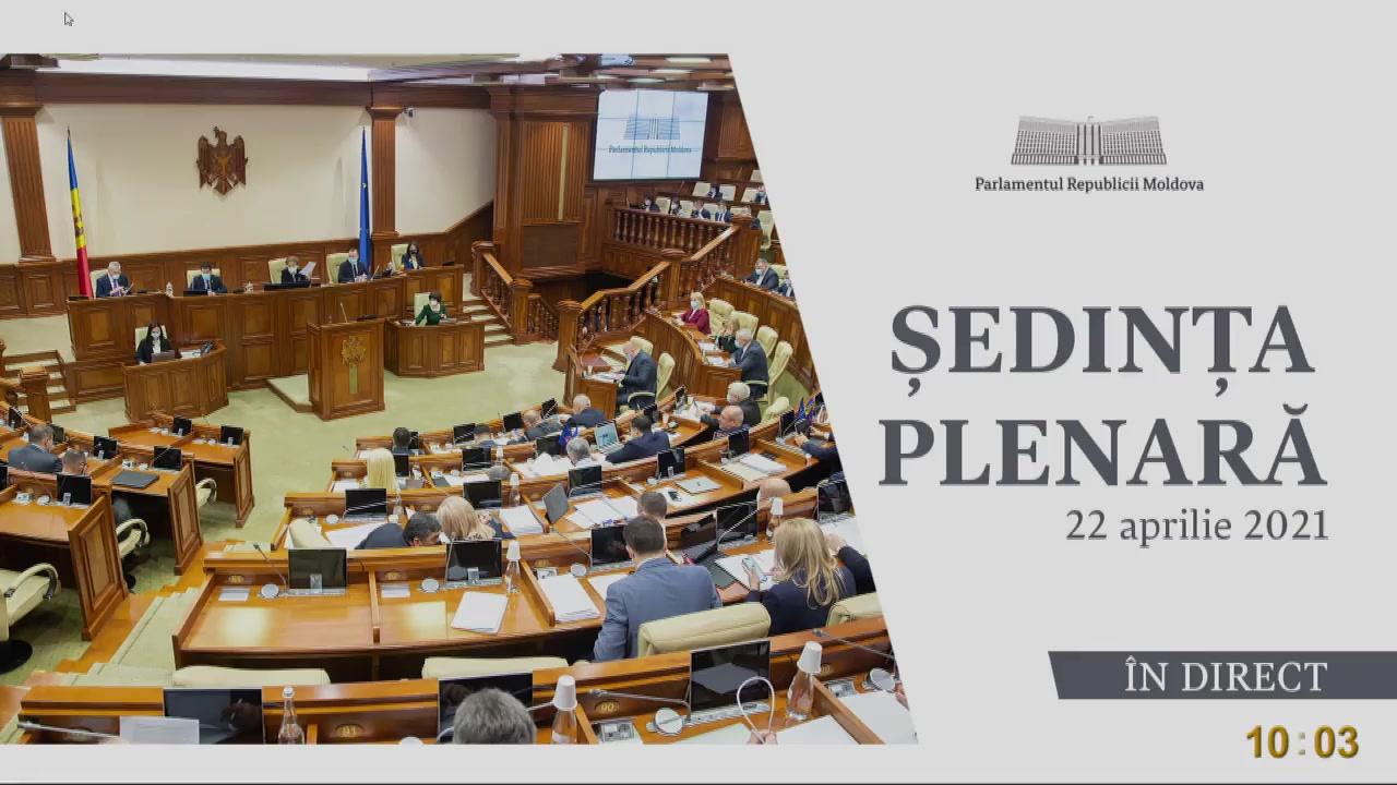Ședința Parlamentului Republicii Moldova din 22 aprilie 2021