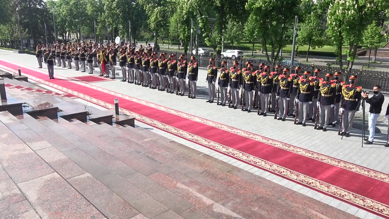 Ceremonia oficială de întâmpinare a Președintelui Republicii Lituania, Gitanas Nauseda, de către Președintele Republicii Moldova, Maia Sandu