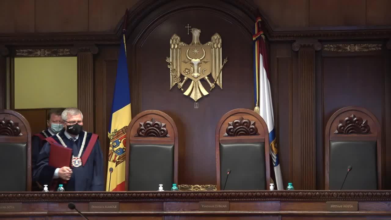 Ședința Curții Constituționale referitoare la adresarea Comisiei Electorale Centrale privind confirmarea alegerilor parlamentare anticipate și validarea mandatelor deputaților aleși
