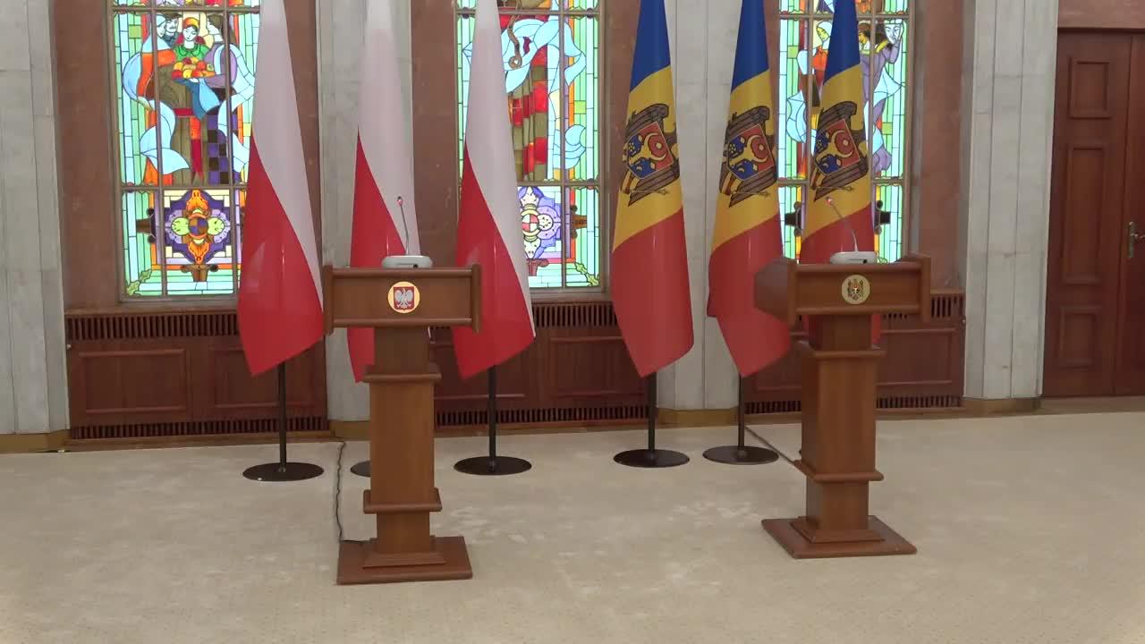 Declarații de presă susținute de Președintele Republicii Moldova, Maia Sandu, și Președintele Republicii Polone, Andrzej Duda