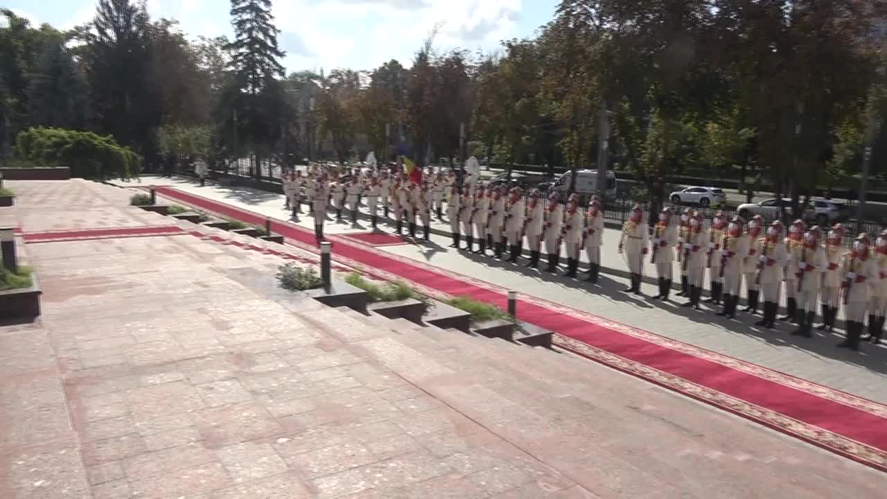Ceremonia oficială de întâmpinare a Președintelui Republicii Federale Germania, Frank-Walter Steinmeier, de către Președintele Republicii Moldova, Maia Sandu