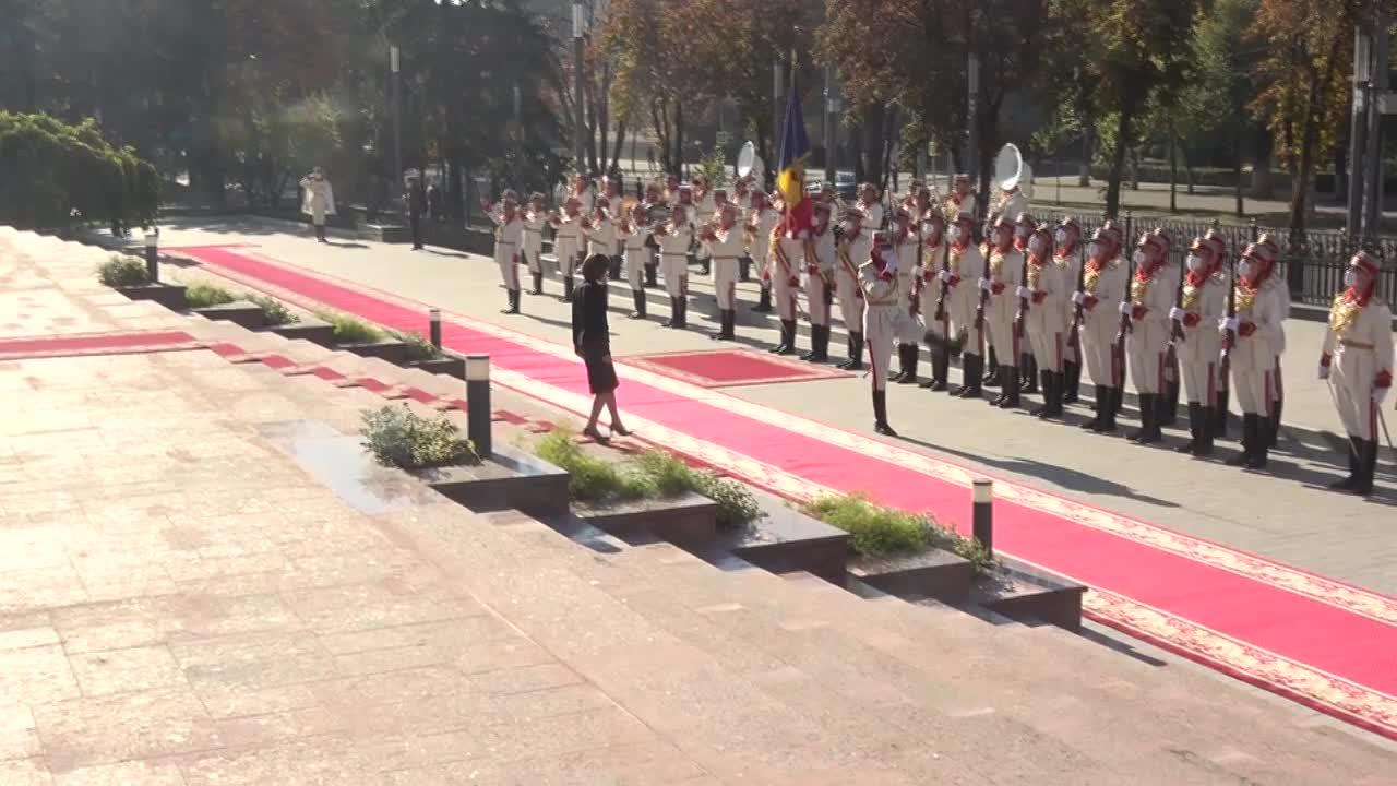 Ceremonia oficială de întâmpinare a Președintelui Republicii Slovenia, Borut Pahor, de către Președintele Republicii Moldova, Maia Sandu