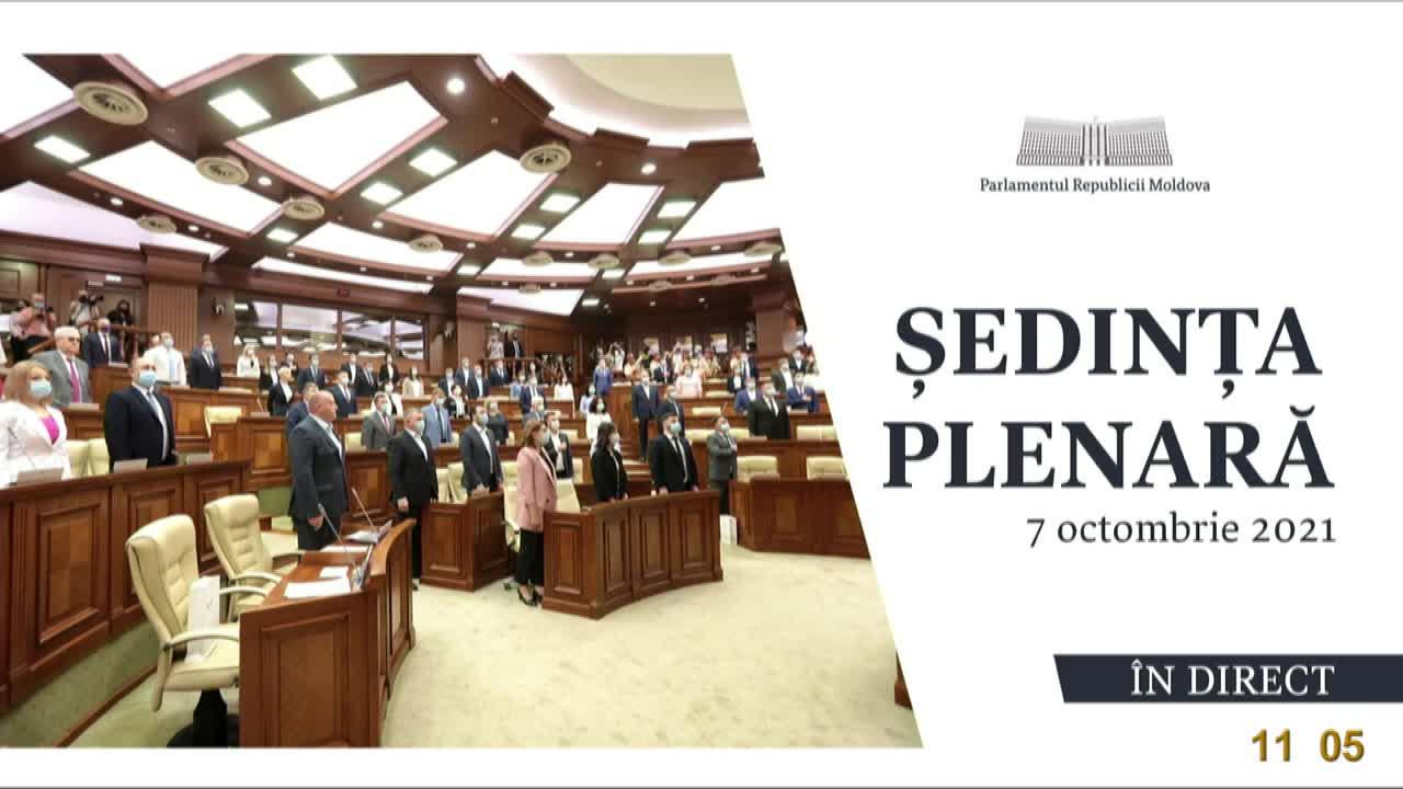 Ședința Parlamentului Republicii Moldova din 7 octombrie 2021
