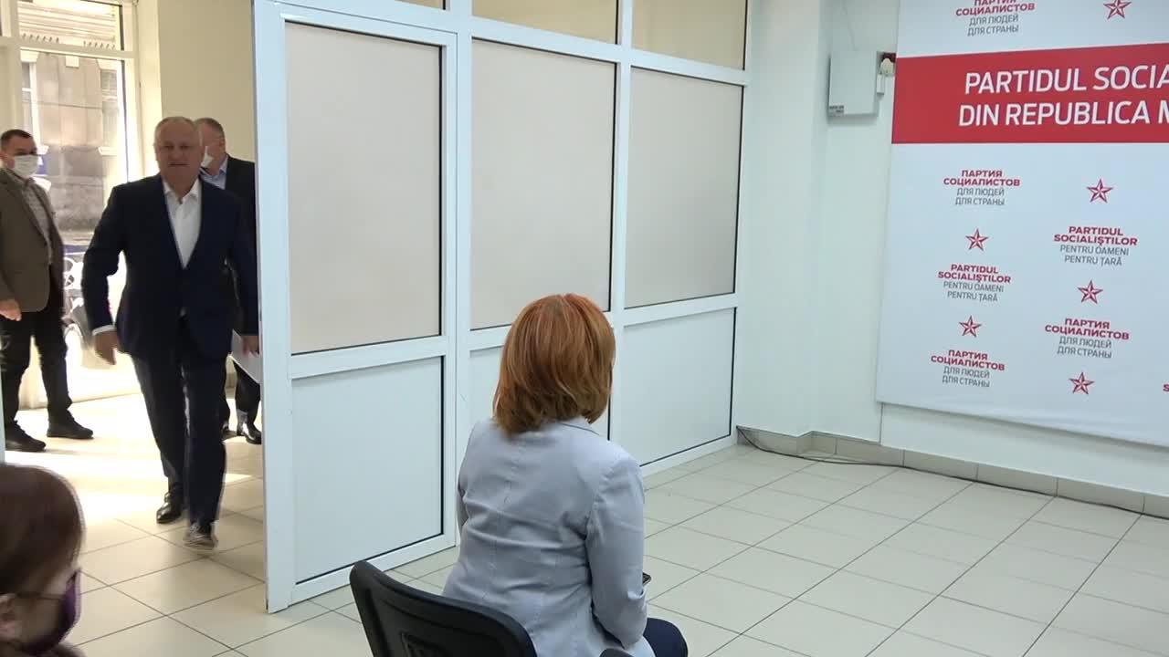 Briefing de presă susținut de președintele Partidului Socialiștilor din Republica Moldova, Igor Dodon
