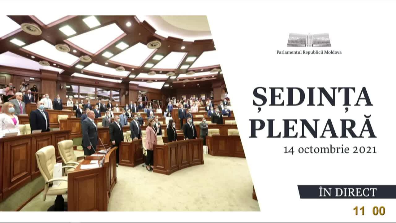Ședința Parlamentului Republicii Moldova din 14 octombrie 2021