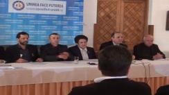 Conferință de presă organizată de Membrii Consiliului Unirii