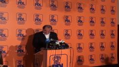 Conferință de presă susținută de Vasile Blaga