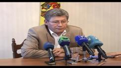 Declarații pentru presă a Președintelui interimar, Mihai Ghimpu după învestirea recentă în fucție a unor judecători. Imagini de pe presedinte.md