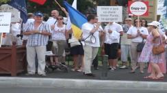 Miting de protest organizat de Partidul Noua Republică