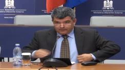 Conferință de presă pe teme de actualitate susținută de secretarul de stat în MAE, Ovidiu Dranga