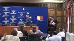 Conferință de presă susținută de ministrul Administrației și Internelor, Ioan Rus, și ministrul Delegat pentru Administrație, Victor Paul Dobre