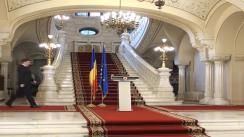 Declarații de presă susținute de președintele interimar al României, Crin Antonescu