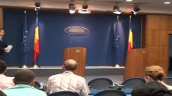 Conferință de presă susținută de prim-ministrul Victor Ponta și ministrul Finanțelor Publice Florin Georgescu și Secretarul de Stat Liviu Voinea