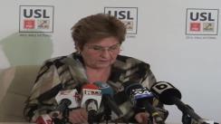 Conferință de presă susținută de vicepreședintele PNL, Mariana Câmpeanu
