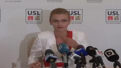 Conferință de presă susținută de deputatul PNL, Alina Gorghiu