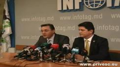 Titus Corlățean, președintele Comisiei pentru Relații Externe a Senatului României sustine o conferinta de presă