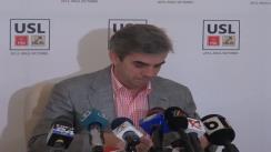 Conferință de presă susținută de viceliderul grupului PNL din Camera Deputaților, Eugen Nicolăescu