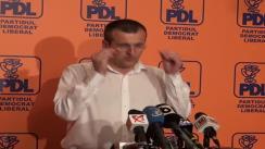 Conferință de presă susținută de europarlamentarul PDL, Cristian Preda