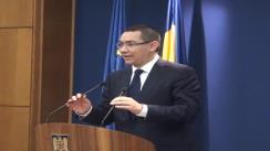 Conferință de presă susținută de Victor Ponta și Daniel Chițoiu