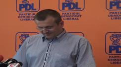 Conferință de presă susținută de Cristian Preda, prim-vicepreședinte al PDL, și Sever Voinescu, vicepreședinte al PDL