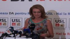 Conferință de presă susținută de deputat PNL, Alina Gorghiu