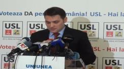 Conferință de presă susținută de senatorul PSD, Dan Șova