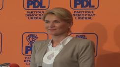 Conferința de presă susținută de vice-președintele PDL, Andreea Paul