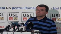 Conferință de presă a susținută de vicepreședintele PNL, Mihai Voicu