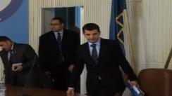 Conferință de presă susținută de ministrul Agriculturii, Daniel Constantin