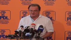 Conferință de presă susținută de președintele PDL, Vasile Blaga