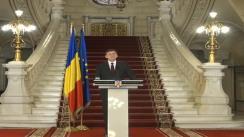 Conferință de presă susținută de președintele interimar al României, Crin Antonescu