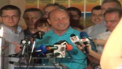 Conferință de presă susținută de Trăian Băsescu la finalul referendumului