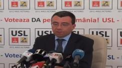 Conferință de presă susținută de vicepreședintele PNL, Mihai Voicu
