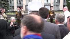 Ceremonia de dezvelire a pietrei comemorative în memoria victimelor ocupației sovietice și ale regimului totalitar comunist