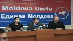 """Partidul """"Moldova Unită – Единая Молдова"""" - Poziția partidului referitor la ultimile evenimente politice în țară"""