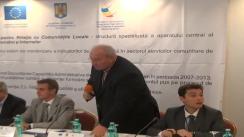 """Conferința de prezentare a stadiului proiectului cu tema """"Dezvoltarea unui sistem de monitorizare a indicatorilor de performanță în sectorul serviciilor comunitare de utilități publice"""""""