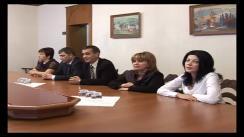 Ședința de lucru a Președintelui interimar, Mihai Ghimpu cu un grup de judecători recent numiți în funcție. Imagini preluate de pe presedinte.md