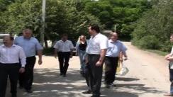 Marian Lupu, președintele PDM, în vizită de lucru în satul Corjeuți afectat de inundații