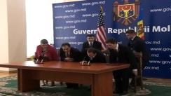 Ceremonia de semnare a Acordului de asistență între Guvernul Statelor Unite ale Americii și Guvernul Republicii Moldova pentru creșterea economică