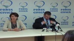 Conferință de presă organizată de Partidul Forța Civică
