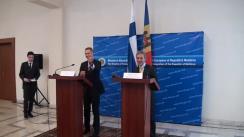 Conferința de presă comună a ministrului Afacerilor Externe din Moldova, Iurie Leancă, și omologului său din Finlanda, Alexander Stubb