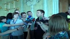 Declarații pentru presă ale deputatului AMN, Veaceslav Platon, după ședința parlamentului din 8 iulie 2010