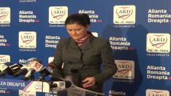 Conferință de presă susținută de vicepreședintele PDL, Anca Boagiu