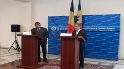 Conferința de presă comună a ministrului Afacerilor Externe din Moldova, Iurie Leancă, și omologului său din România, Teodor Baconschi
