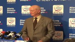 Conferință de presă susținută de liderul ARD, Ștefan Vlaston