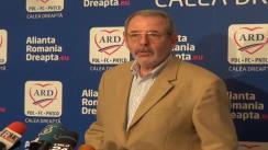 Conferință de presă susținută de vicepreședintele PDL, Andreea Paul, și vicepreședintele FC, Gabi Biriș