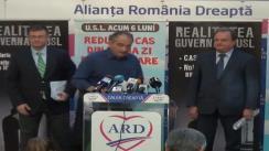 Conferință de presă susținută de co-președinții ARD, Vasile Blaga și Mihai Răzvan Ungureanu