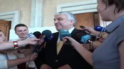 Declarații pentru presă ale prim-vicepreședintelui parlamentului, Serafim Urecheanu, după ședința parlamentului din 16 iulie 2010